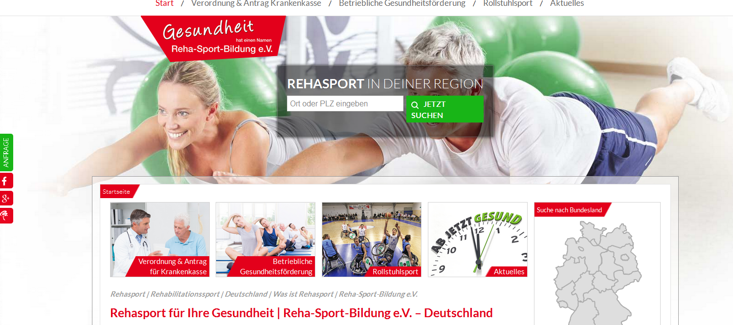 Rehasport Screenshot